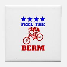 Bernie Sanders Mountain Bike Tile Coaster