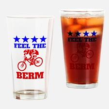 Bernie Sanders Mountain Bike Drinking Glass