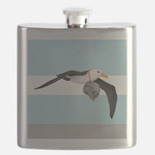 Albatross With A Skull Around Its Neck Flask