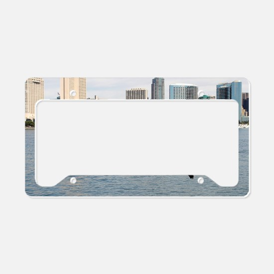 Funny Brown water License Plate Holder