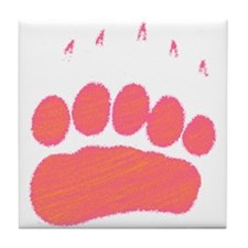Pink Grizzly track Tile Coaster