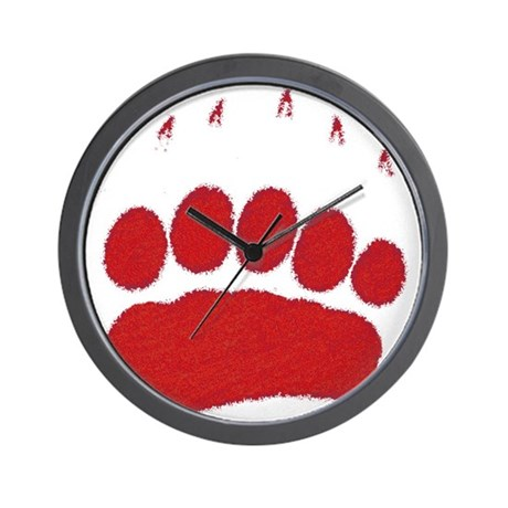 Bear Grizzly Track Wall Clock
