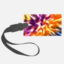 Multi Color Tie Dye Luggage Tag