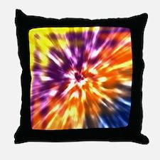 Multi Color Tie Dye Throw Pillow