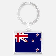 New Zealand flag Landscape Keychain