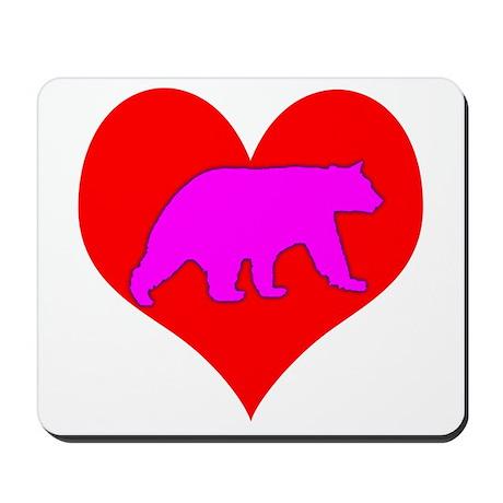 I Love Bears Mousepad