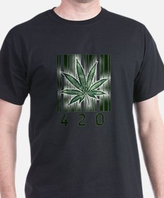 420 Marijuana Power Leaf T-Shirt