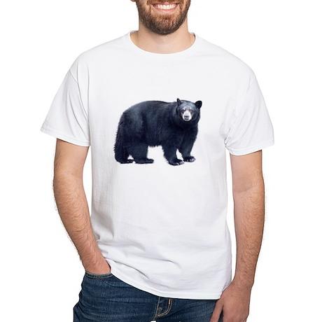 Black Bear White T-Shirt