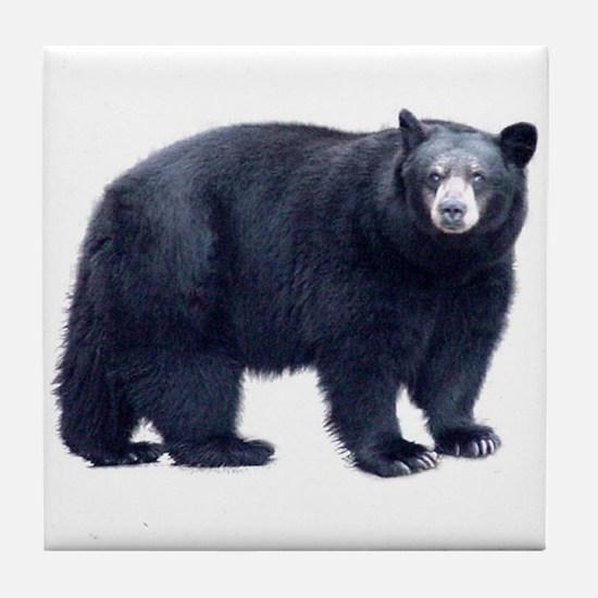 Black Bear Tile Coaster