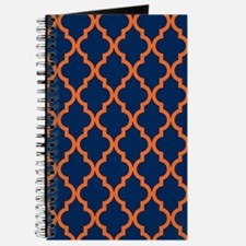 Moroccan Pattern: Orange & Navy Blue Journal