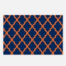Moroccan Pattern: Orange Postcards (Package of 8)