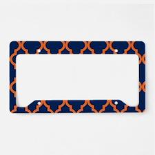 Moroccan Pattern: Orange & Na License Plate Holder