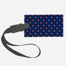 Polka Dots: Orange & Navy Blue Luggage Tag