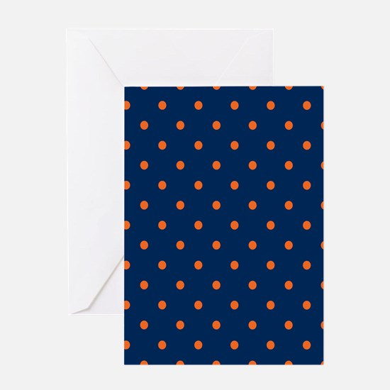 Polka Dots: Orange & Navy Blue Greeting Card