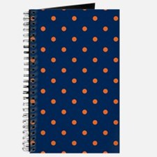 Polka Dots: Orange & Navy Blue Journal