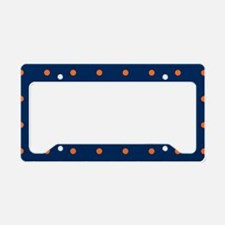 Polka Dots: Orange & Navy Blu License Plate Holder