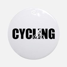 Cycling Round Ornament