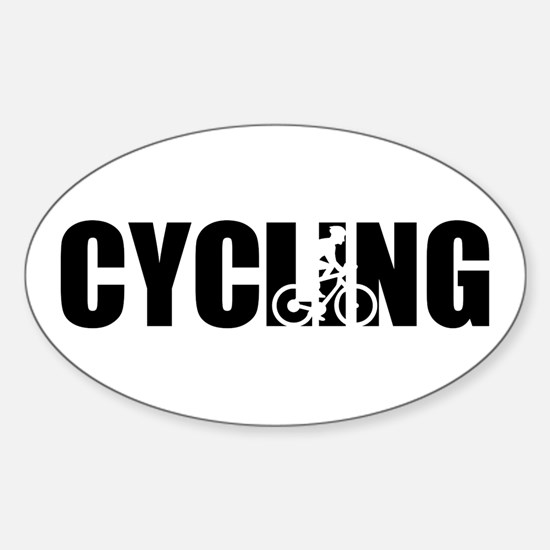 Cycling Sticker (Oval)
