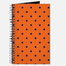 Polka Dots: Navy Blue & Orange Journal