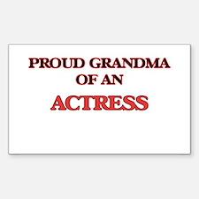 Proud Grandma of a Actress Decal