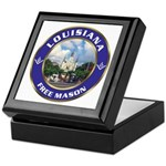 Louisiana Free Mason Keepsake Box
