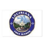 Louisiana Free Mason Postcards (Package of 8)