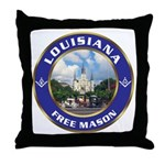 Louisiana Free Mason Throw Pillow