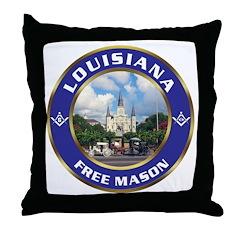 Louisiana Free Mason Throw Pillow