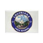 Louisiana Free Mason Rectangle Magnet (100 pack)