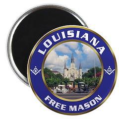 Louisiana Free Mason Magnet