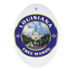 Louisiana Free Mason Oval Ornament
