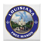 Louisiana Free Mason Tile Coaster