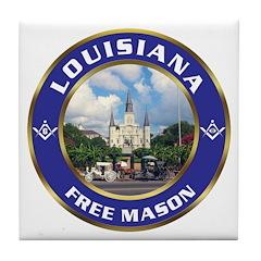Louisiana Free Mason Tile Coaster