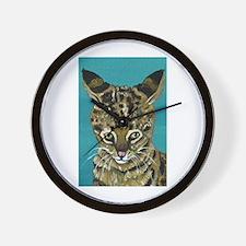 Savannah Cat Wall Clock