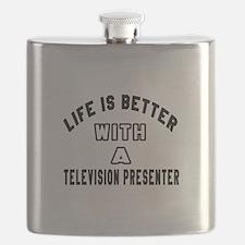 Television presenter Designs Flask