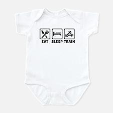 Eat Sleep Train Bodybuilding Infant Bodysuit