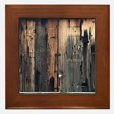 Tate Barn Wood 1 by Leslie Harlow Framed Tile