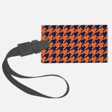 Houndstooth Checkered: Orange & Luggage Tag