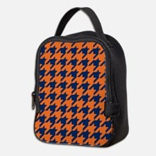 Houndstooth Checkered: Orange & Neoprene Lunch Bag
