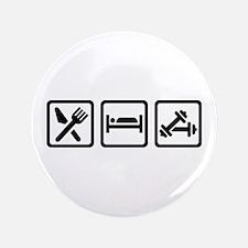 Eat Sleep Bodybuilding Button