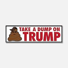 Take A Dump On Trump Car Magnet 10 X 3