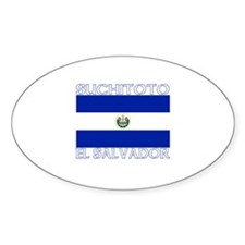 Suchitoto, El Salvador Oval Decal