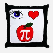 Cute Apple pi Throw Pillow