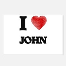 I Love John Postcards (Package of 8)