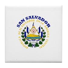 San Salvador, El Salvador Tile Coaster