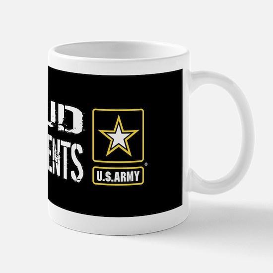 U.S. Army: Proud Grandparents (Black) Mug