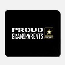 U.S. Army: Proud Grandparents (Black) Mousepad