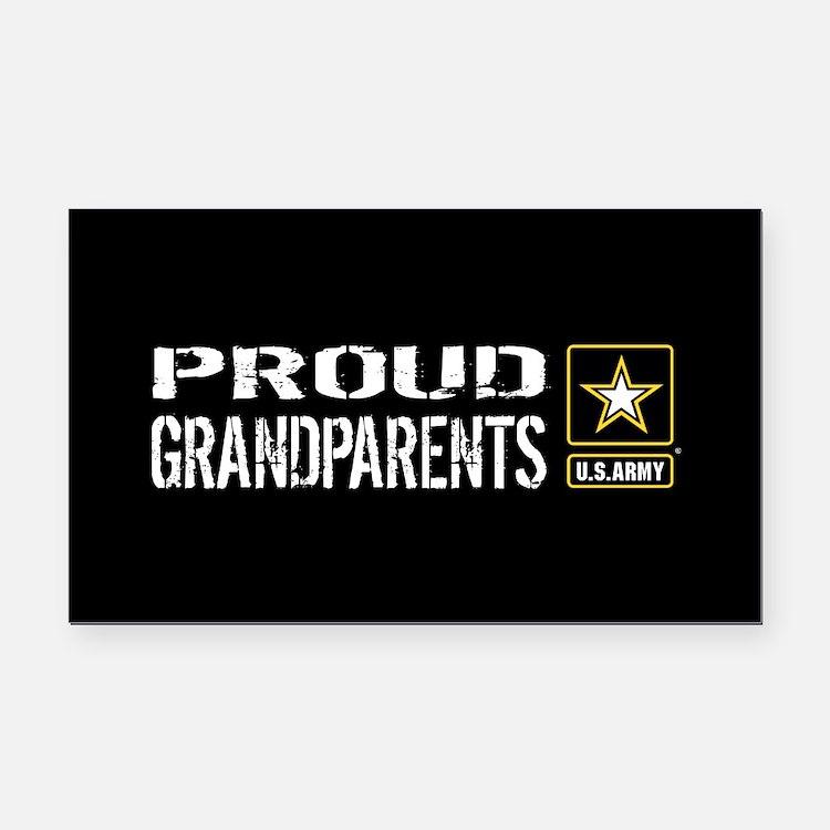 U.S. Army: Proud Grandparents Rectangle Car Magnet