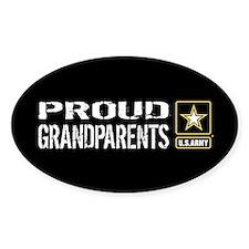 U.S. Army: Proud Grandparents (Blac Decal