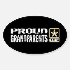U.S. Army: Proud Grandparents (Blac Sticker (Oval)